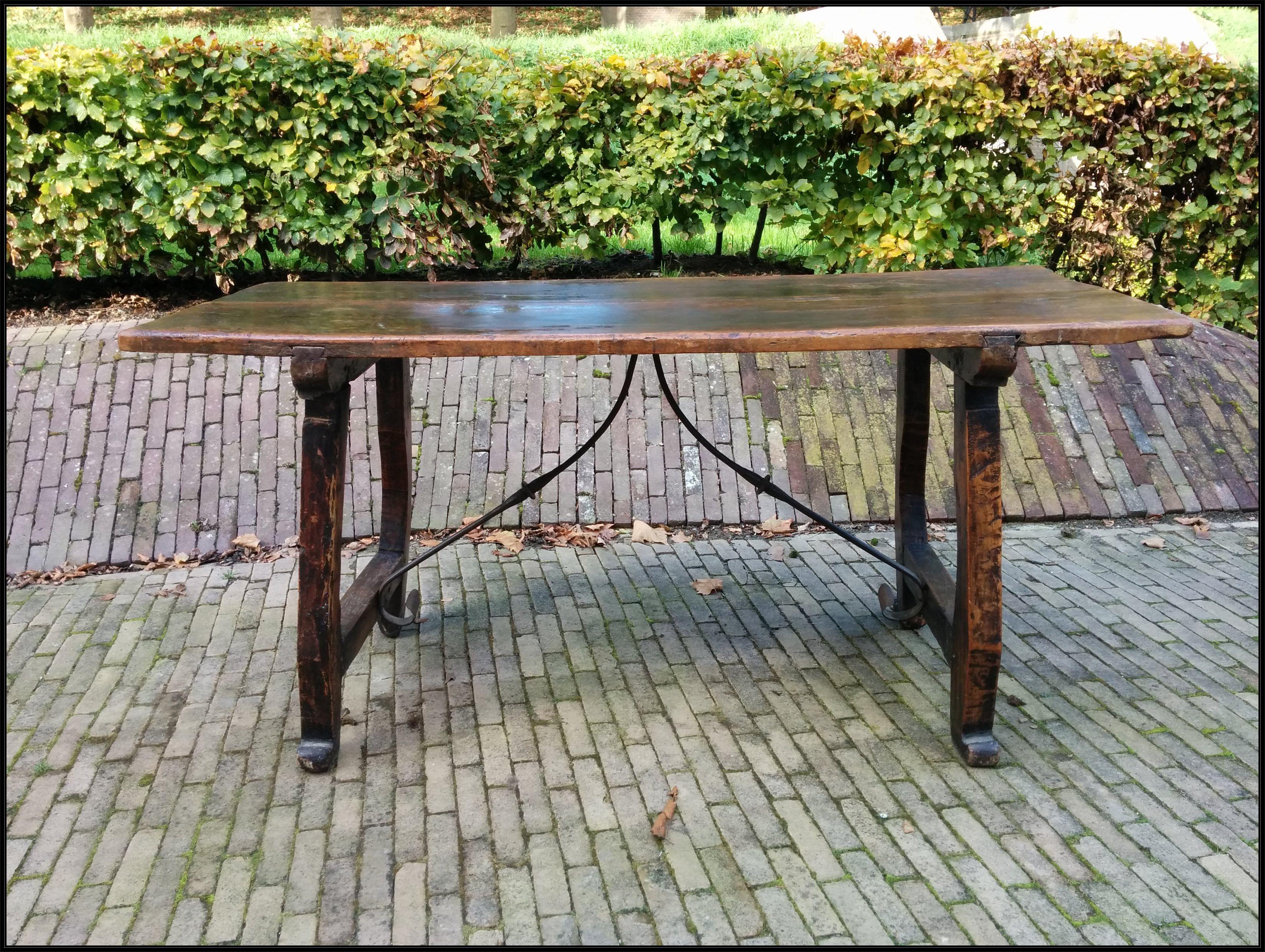 Antieke Spaanse Tafel : Spaanse tafel antieke eettafels.nl