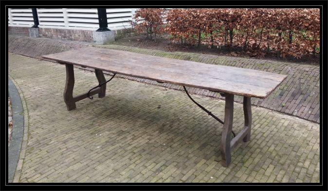 Antieke Spaanse Tafel : Spaanse eettafel antieke eettafels.nl