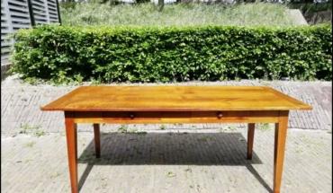 Eettafel kersenhout, lengte 2,0m